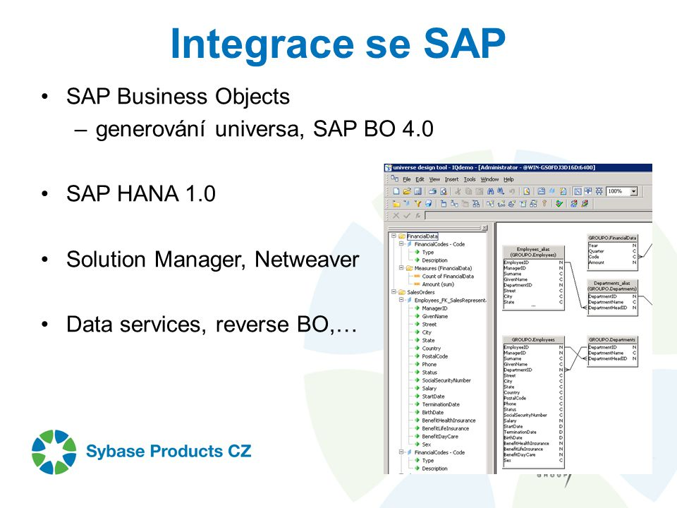 Integrace se SAP SAP Business Objects generování universa, SAP BO 4.0