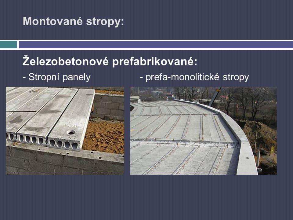 Prefabrikované železobetonové stropy