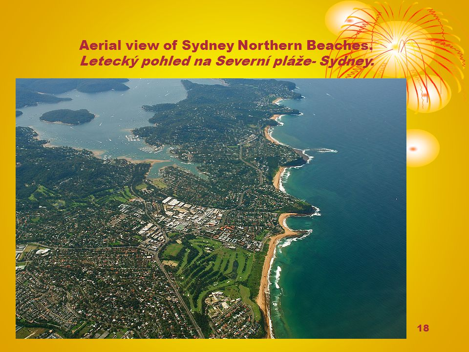Aerial view of Sydney Northern Beaches.