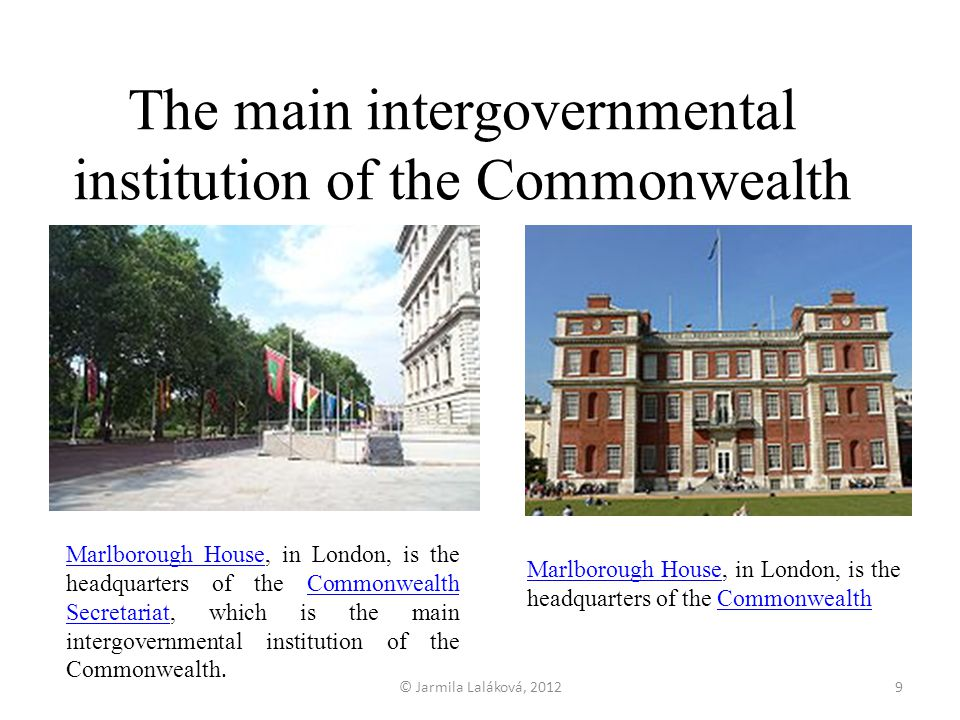 The main intergovernmental institution of the Commonwealth