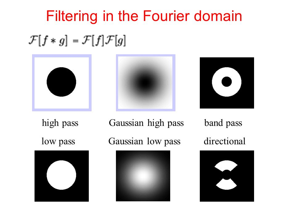 Filtering in the Fourier domain