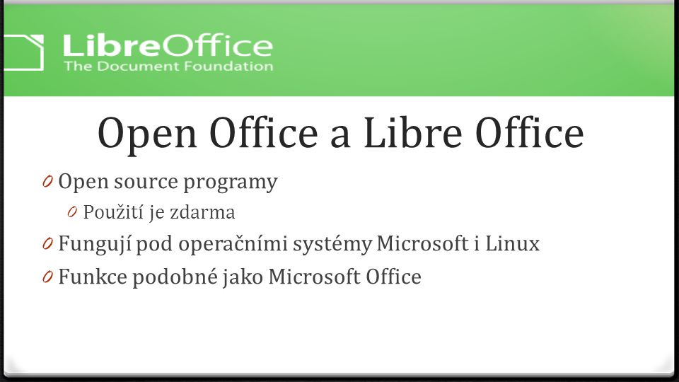 Open Office a Libre Office