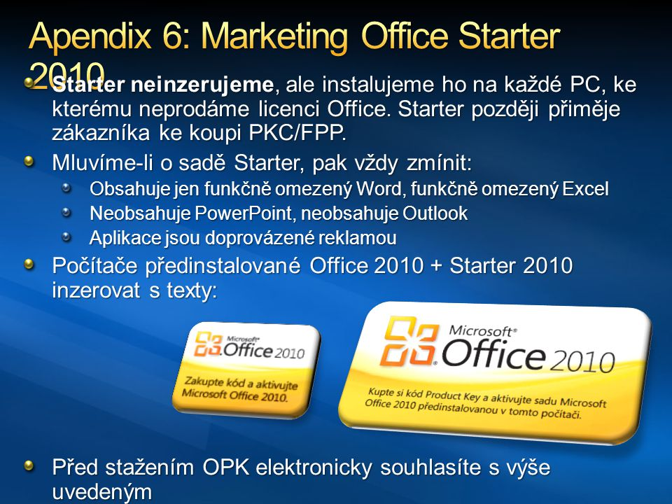 Apendix 6: Marketing Office Starter 2010
