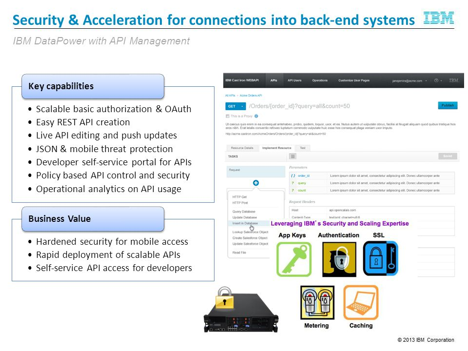 Security & Acceleration for connections into back-end systems