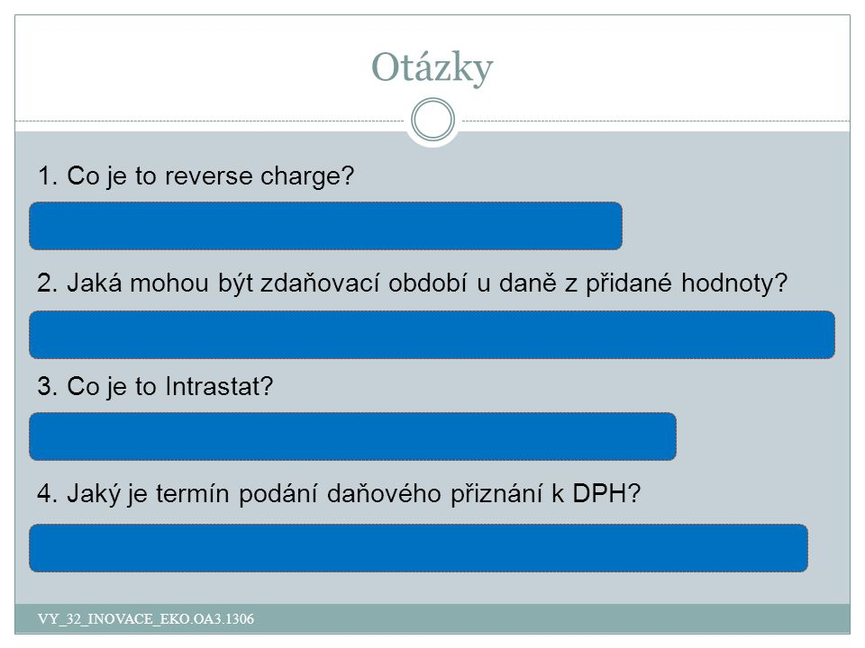 Otázky 1. Co je to reverse charge