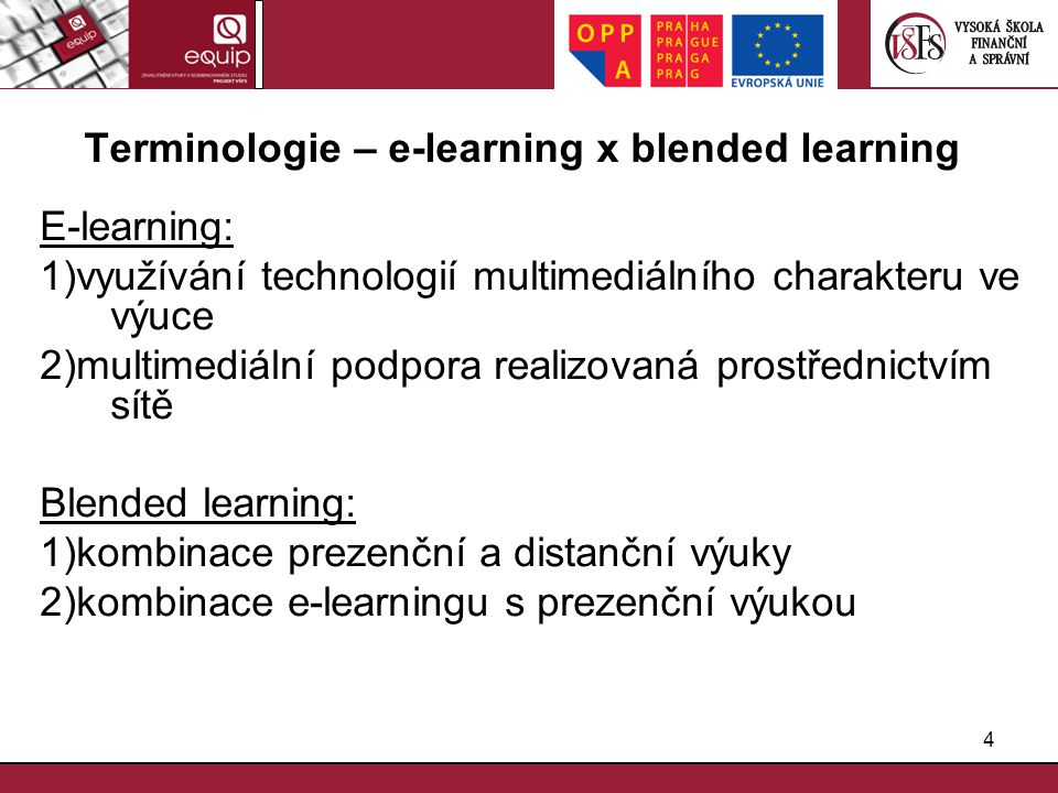 Terminologie – e-learning x blended learning
