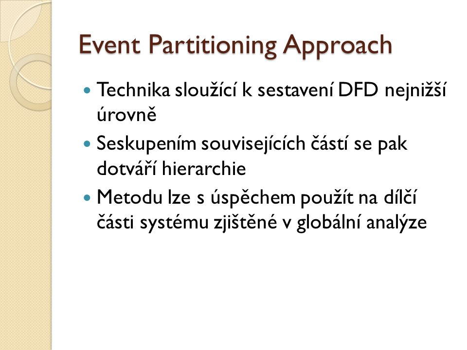 Event Partitioning Approach
