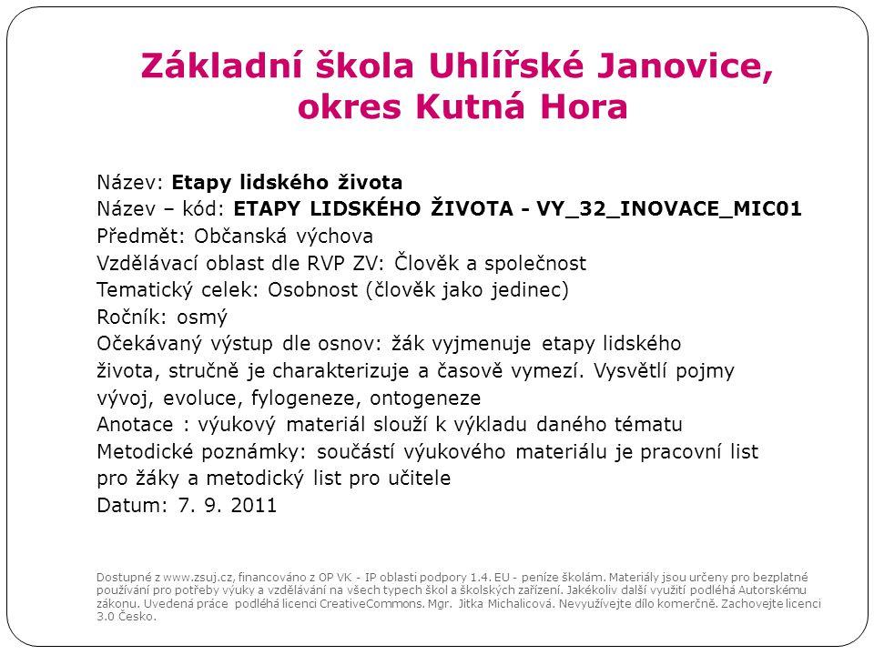 Zakladni Skola Uhlirske Janovice Okres Kutna Hora Ppt Stahnout