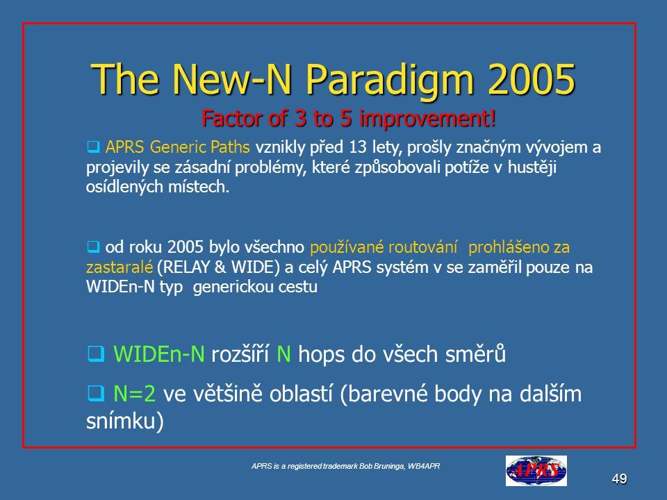 The New-N Paradigm 2005 Factor of 3 to 5 improvement!