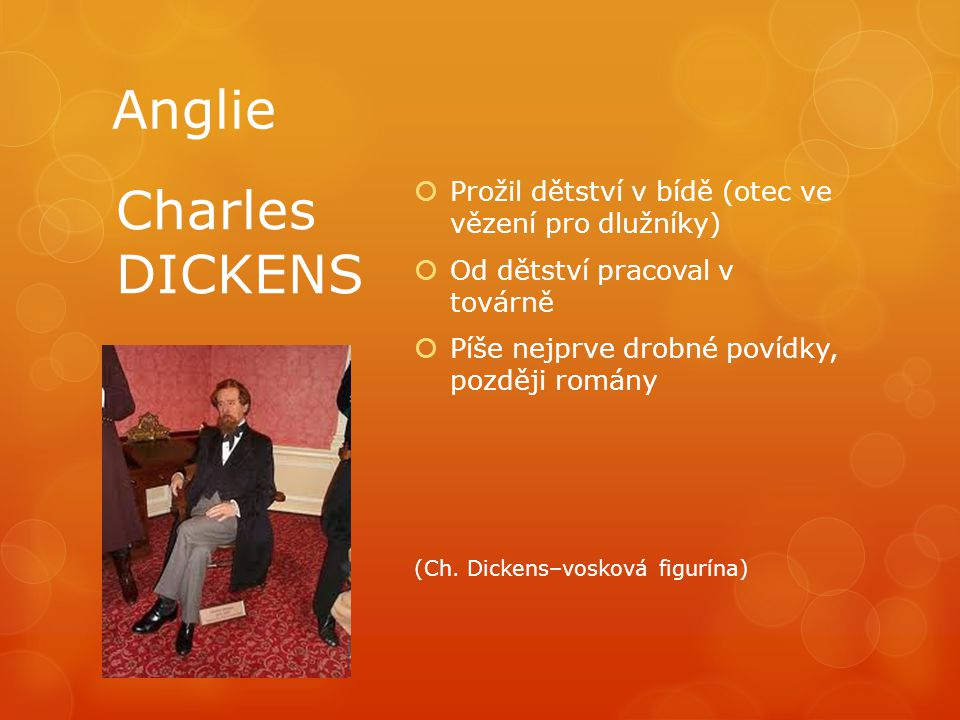 Anglie Charles DICKENS