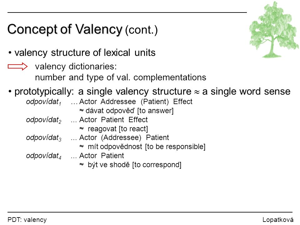 Concept of Valency (cont.)