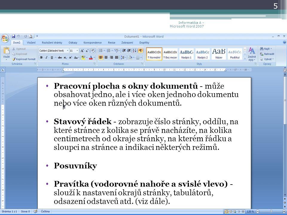 Informatika A Microsoft Word Ppt Stahnout