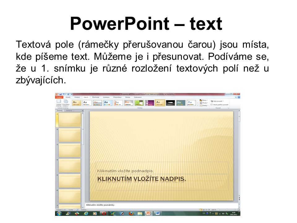 PowerPoint – text