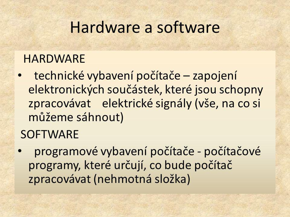 Hardware a software HARDWARE