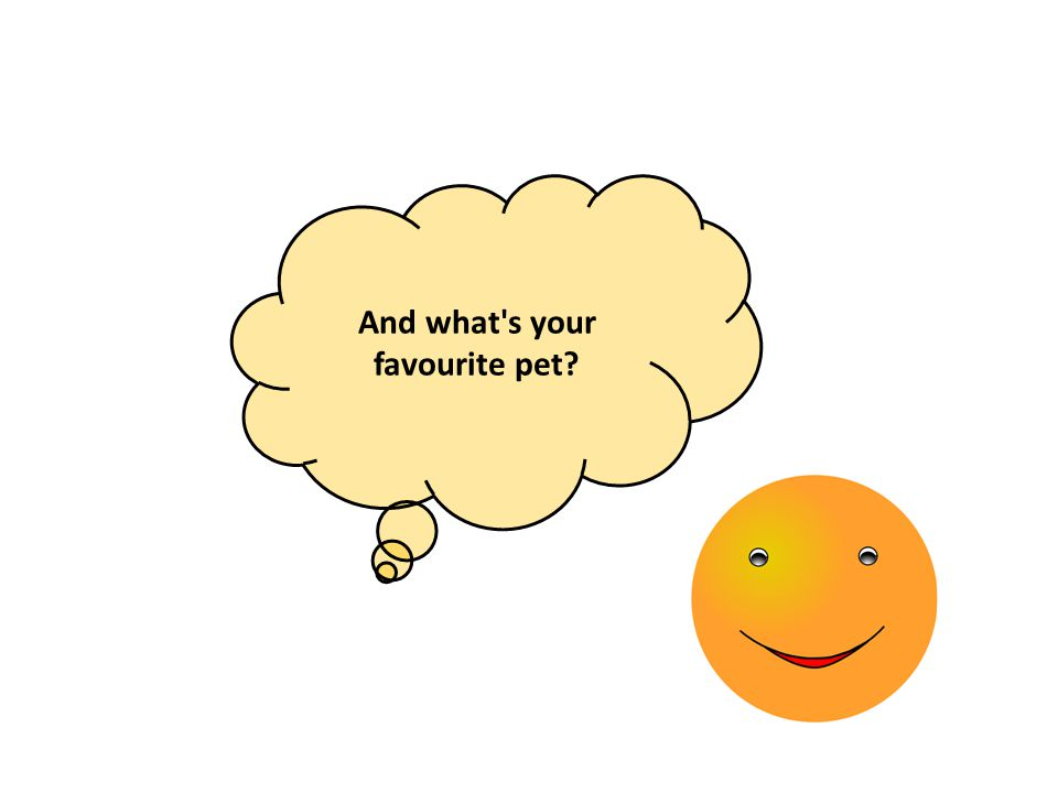 And what s your favourite pet