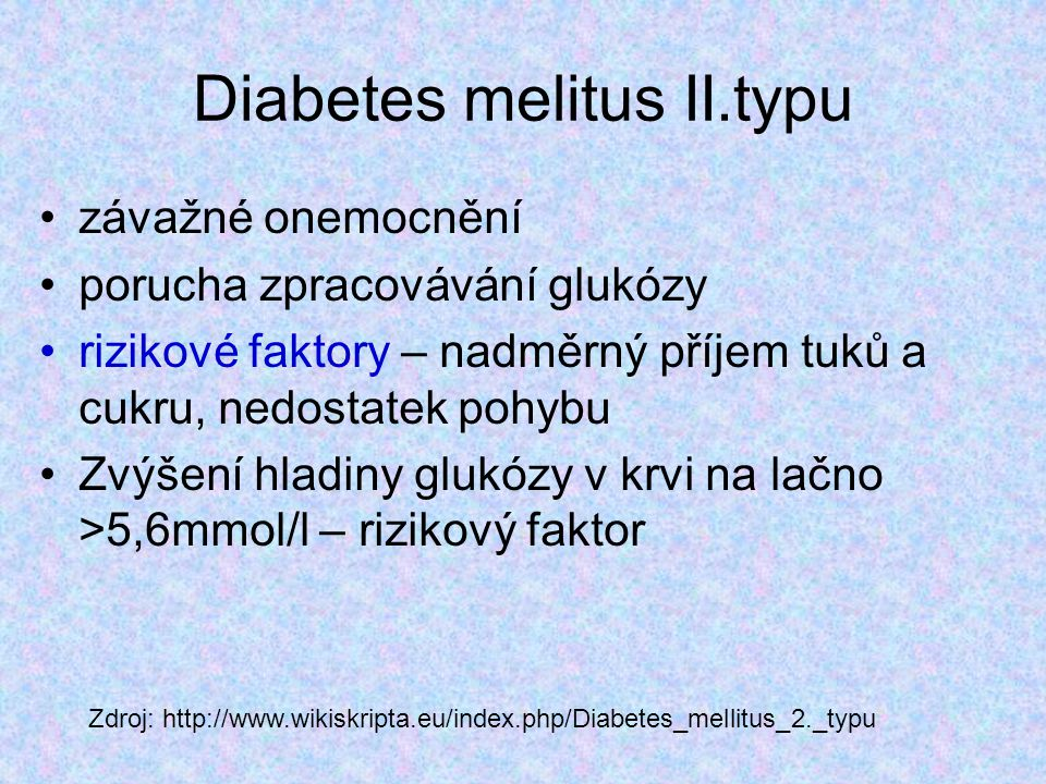 Diabetes melitus II.typu