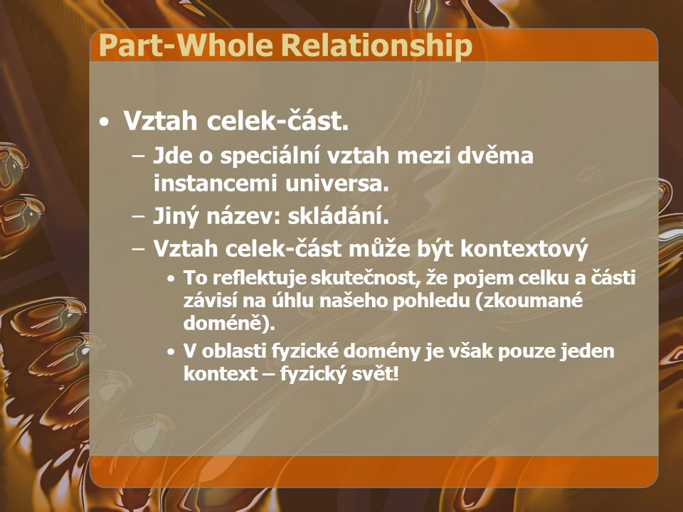 Part-Whole Relationship