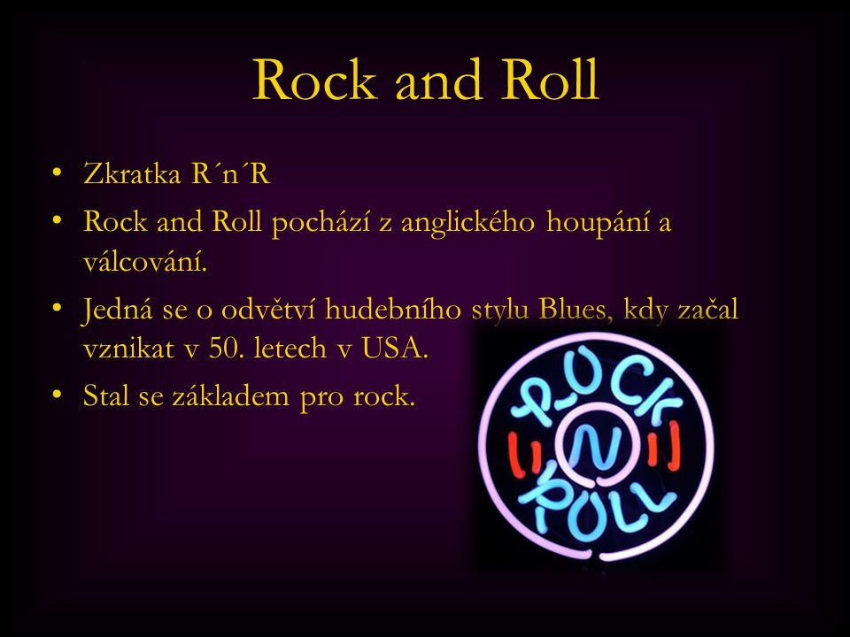 Rock and Roll Zkratka R´n´R