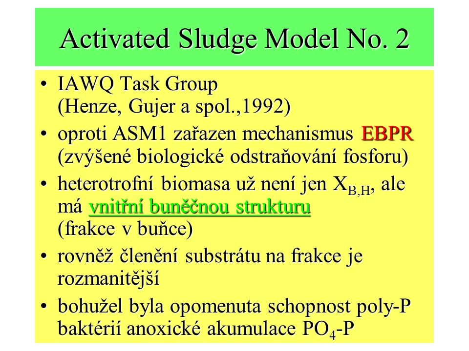 Activated Sludge Model No. 2