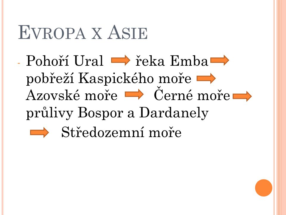 Evropa x Asie