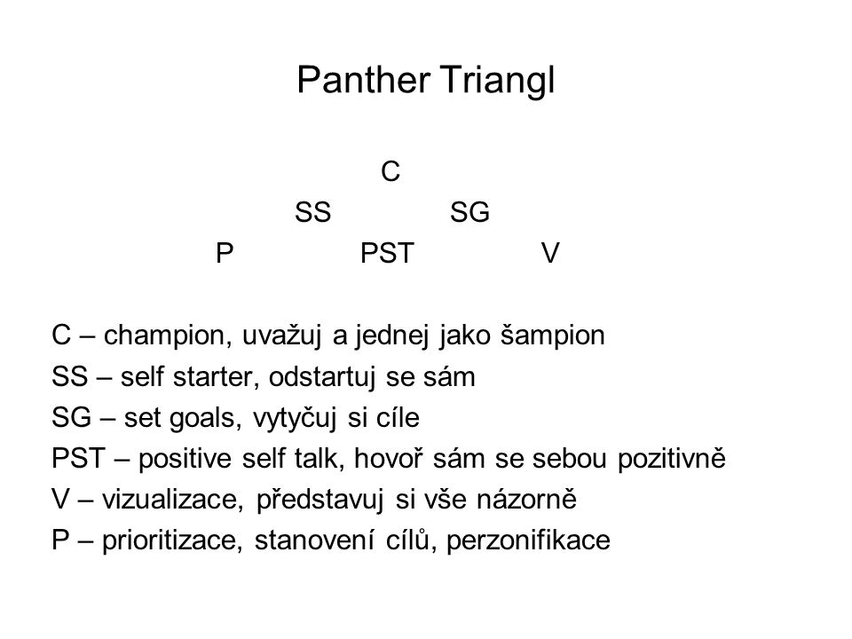 Panther Triangl C SS SG P PST V