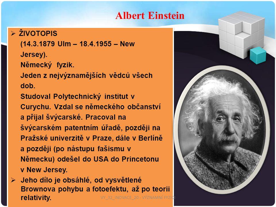 Vy 32 Inovace 20 Vyznamni Fyzici Ppt Stahnout