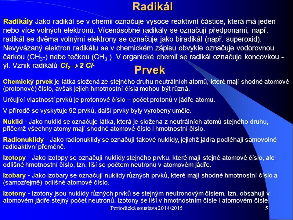 Definice chemie radioaktivního randění