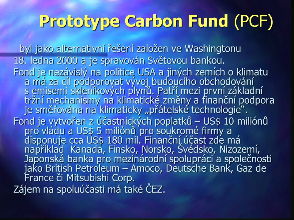Prototype Carbon Fund (PCF)