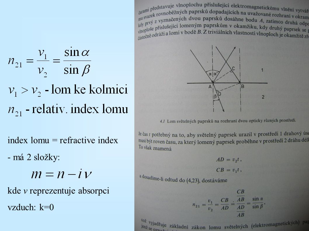 index lomu = refractive index