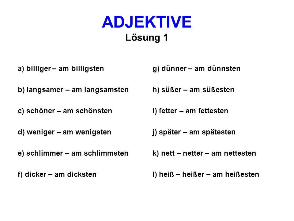 Adjektiv mit b