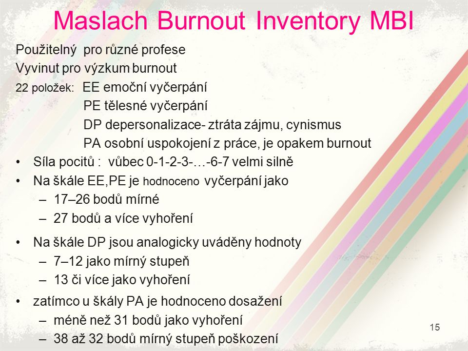 Maslach Burnout Inventory MBI