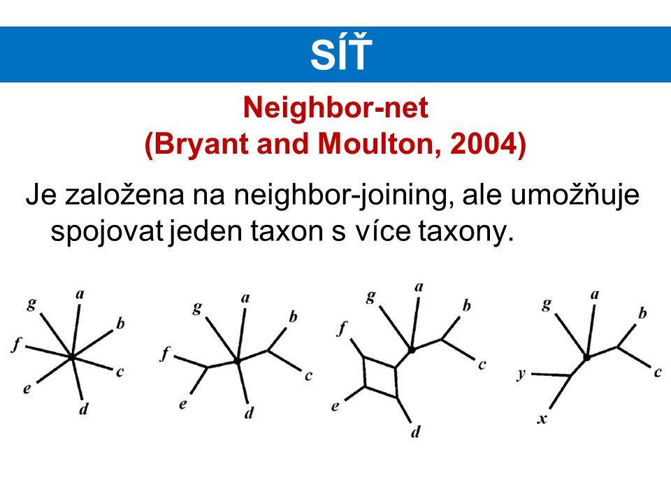 Neighbor-net (Bryant and Moulton, 2004)