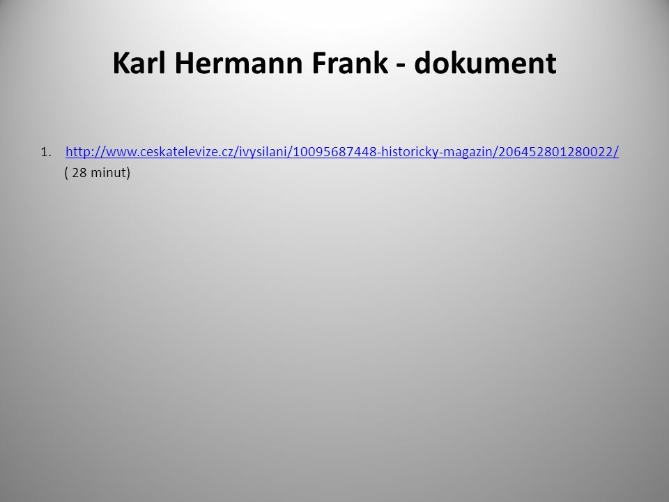Karl Hermann Frank - dokument