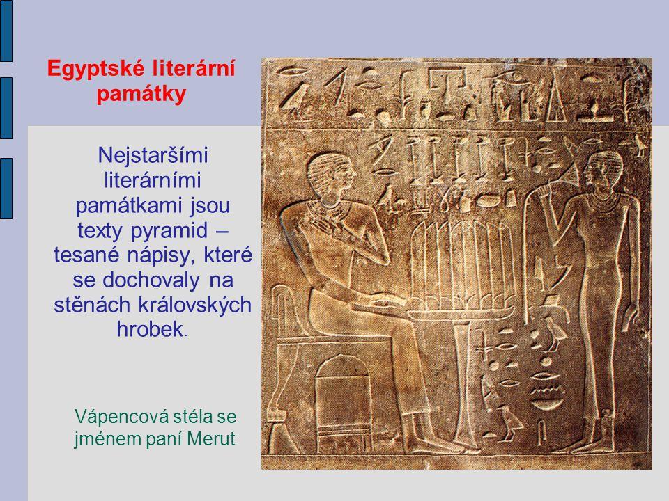 pochází z egyptských literárních textů
