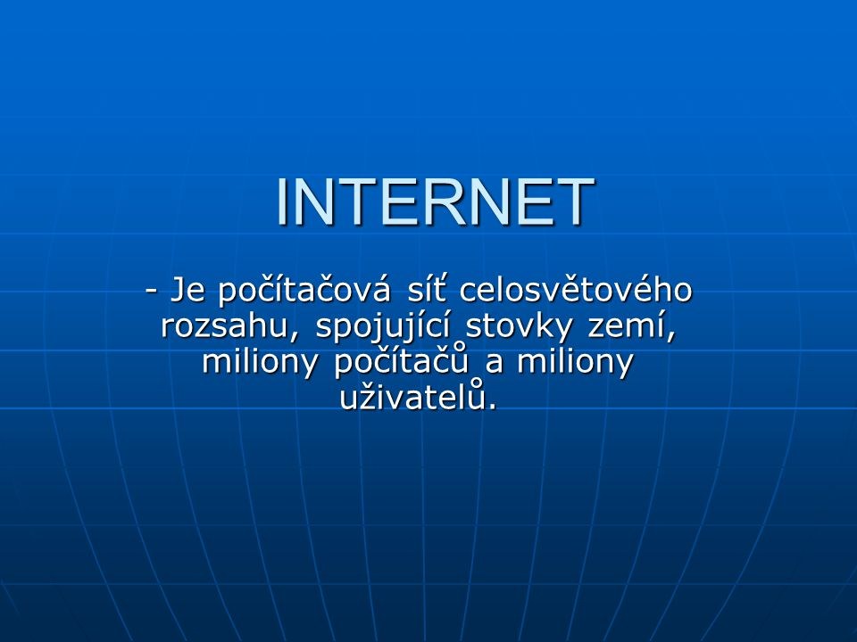 Světová celosvětová datovací síť