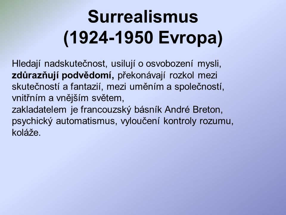 Surrealismus (1924-1950 Evropa)