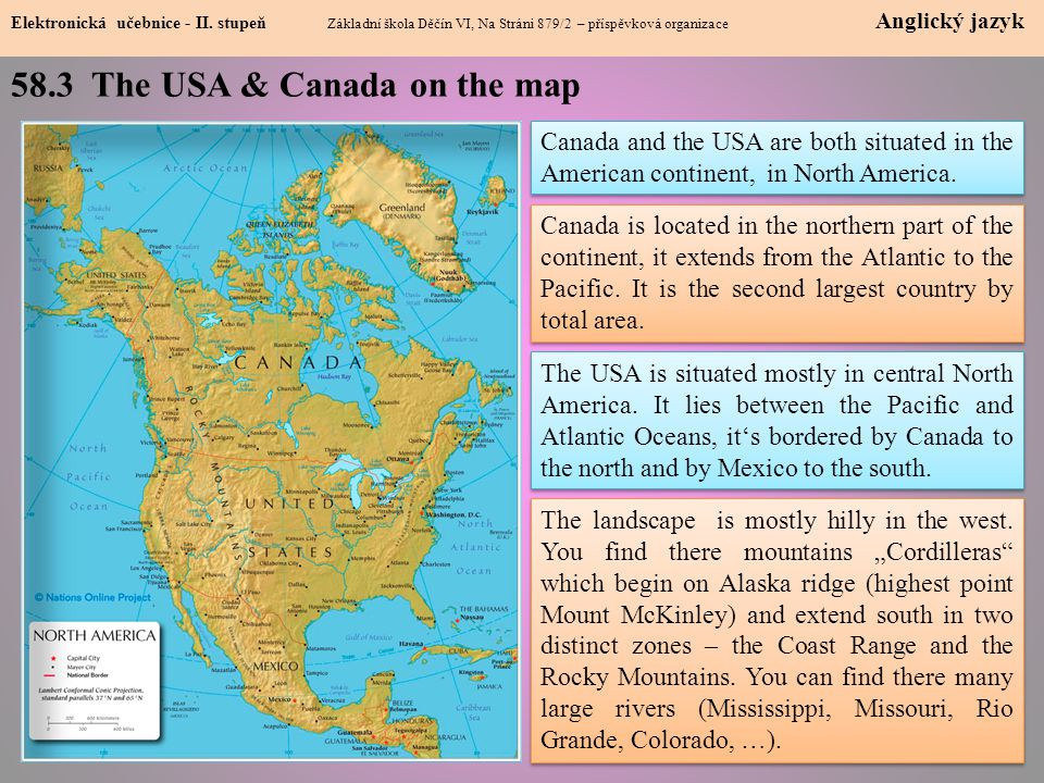 58.3 The USA & Canada on the map