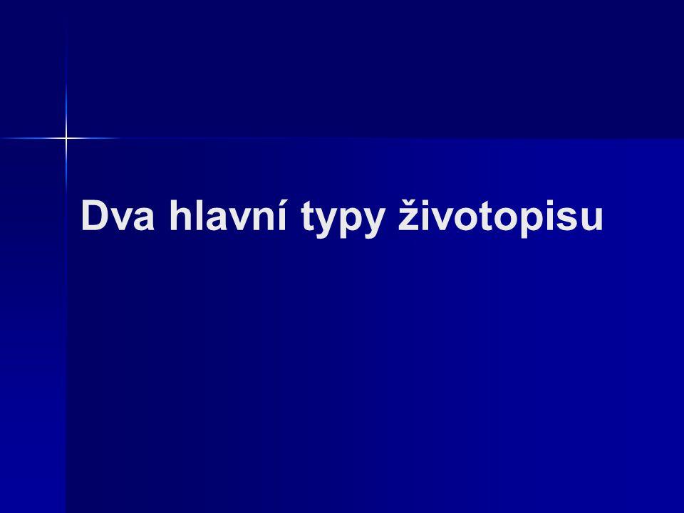 Zivotopis A Motivacni Dopis Ppt Stahnout