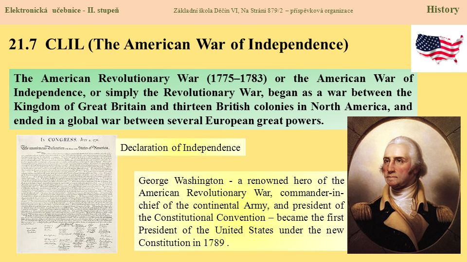 21.7 CLIL (The American War of Independence)