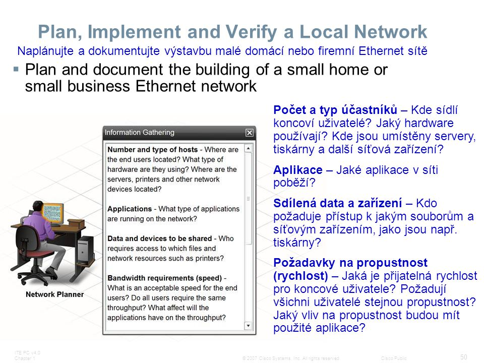 Plan, Implement and Verify a Local Network