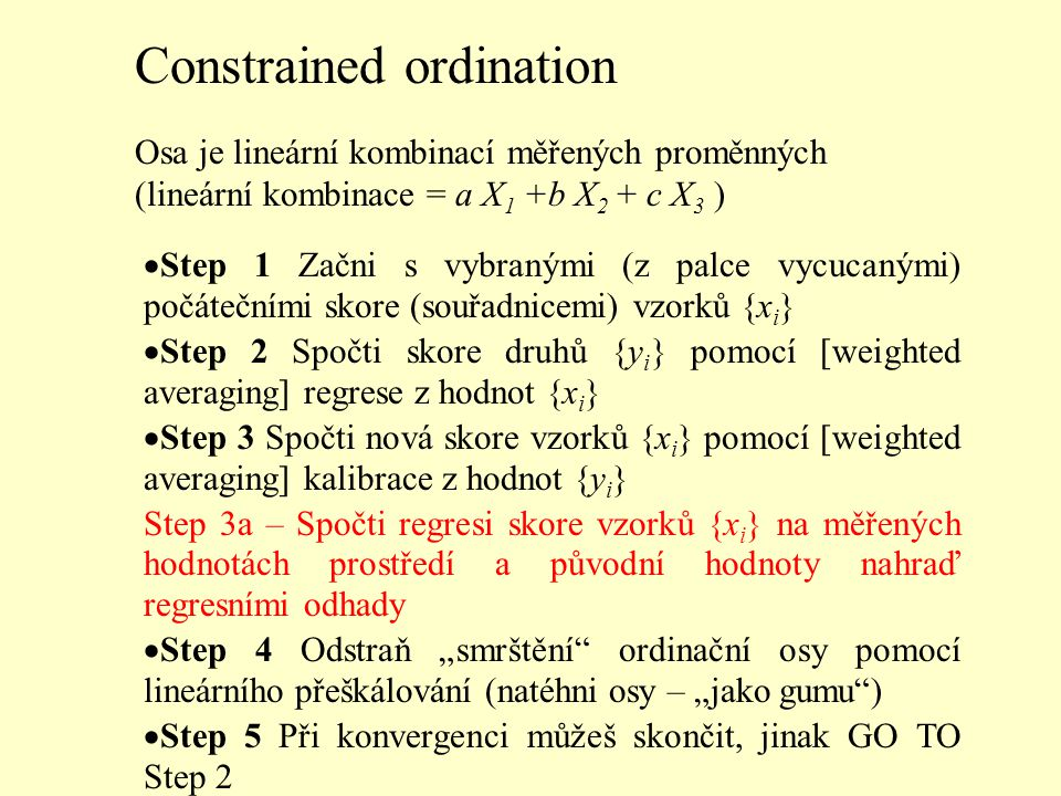 Constrained ordination
