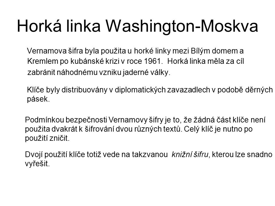 Horká linka Washington-Moskva
