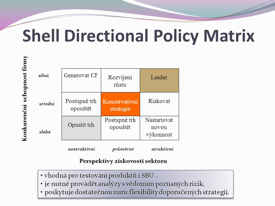 Shell Directional Policy Matrix