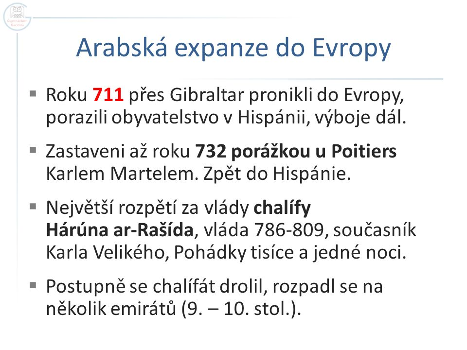 Arabská expanze do Evropy
