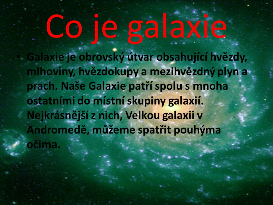 Co je galaxie