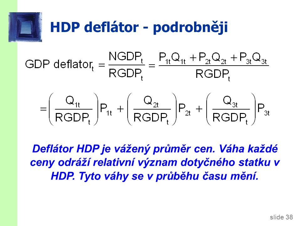 Zřetězený HDP (chain-weighted)