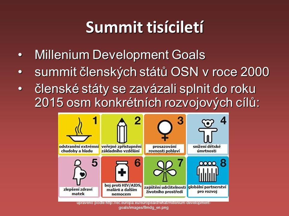 Summit tisíciletí Millenium Development Goals
