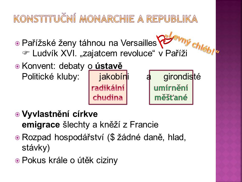 Konstituční monarchie a republika