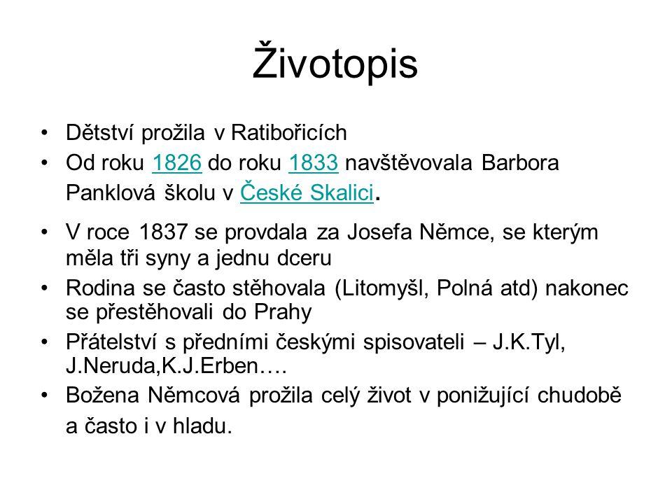 Vy 32 Inovace Cj 8 10 Bozena Nemcova Prezentace Nazev Sablony