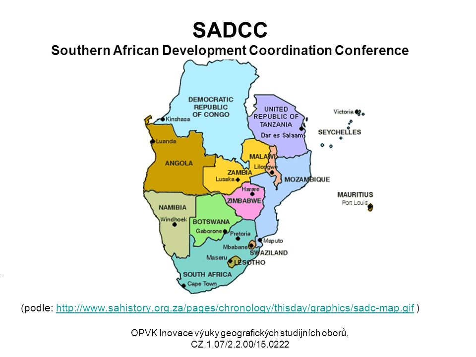 SADCC Southern African Development Coordination Conference